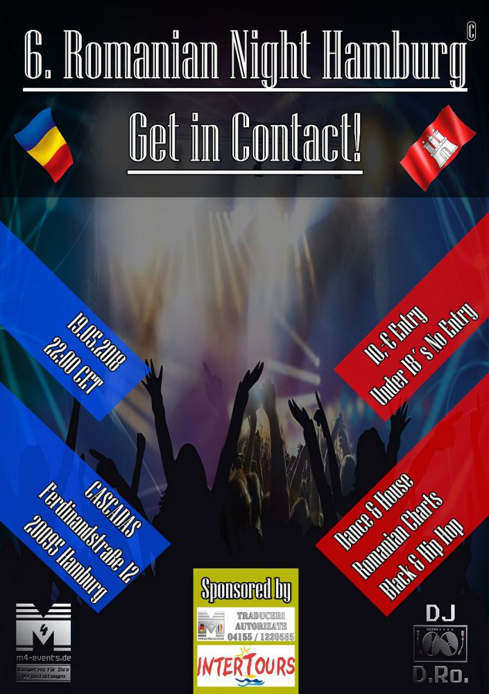 Flyer neu 6. ROMANIAN NIGHT HH   Get in Contact cascadas